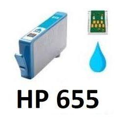 HP CZ110A, 655XL C. (kék) prémium kategóriájú utángyártott chipes tintapatron, patron