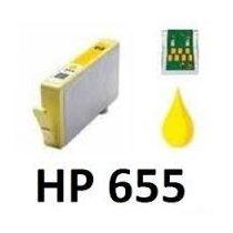 HP CZ112A, 655XL Y. (sárga) prémium kategóriájú utángyártott chipes tintapatron, patron
