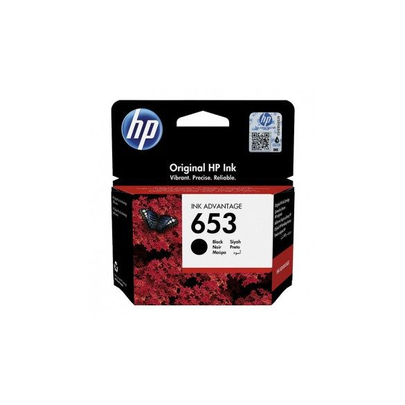 HP 653 (3YM75AE) - patron, black (fekete)