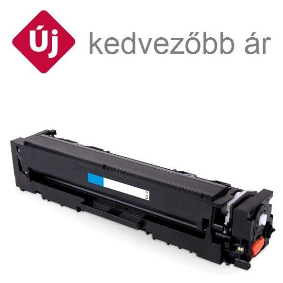 HP CF541X (203X), cyan, kék prémium  utángyártott TONER, (Color LaserJet Pro M254, MFP 280-281) 2500 oldal  (CF540A nagy kapacitással)