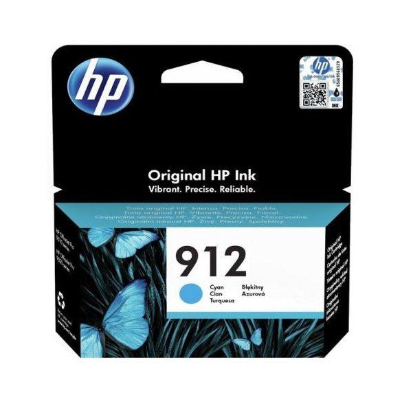 HP 912, 3YL77AE tintapatron, kék (cyan), eredeti