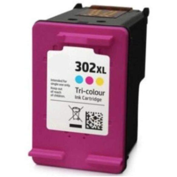 HP 302 XL C (F6U67AE) color-szines prémium utángyártott tintapatron (302XL) 360 oldal