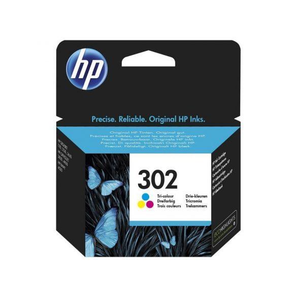 HP 302 színes eredeti patron F6U65AE