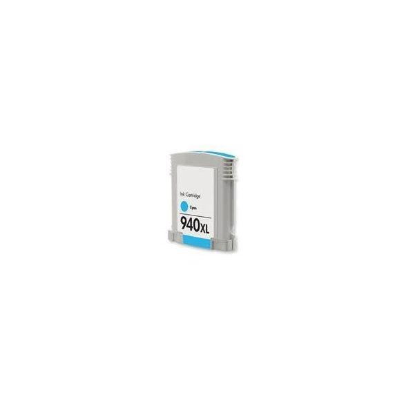 HP C4907AE, 940 XL (c, kék) prémium kategóriájú utángyártott chipes tintapatron, patron