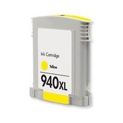 HP C4909AE, 940 XL (y, sárga) prémium kategóriájú utángyártott chipes tintapatron, patron