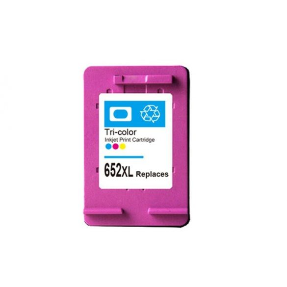 HP 652XL (F6V25AE) Color, színes prémium utángyártott tintapatron, patron - 3xos kapacitású!