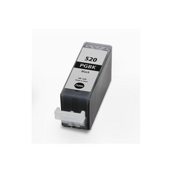 CANON PGI-520 Bk. (fekete) prémium kategóriájú utángyártott tintapatron Chipes, patron