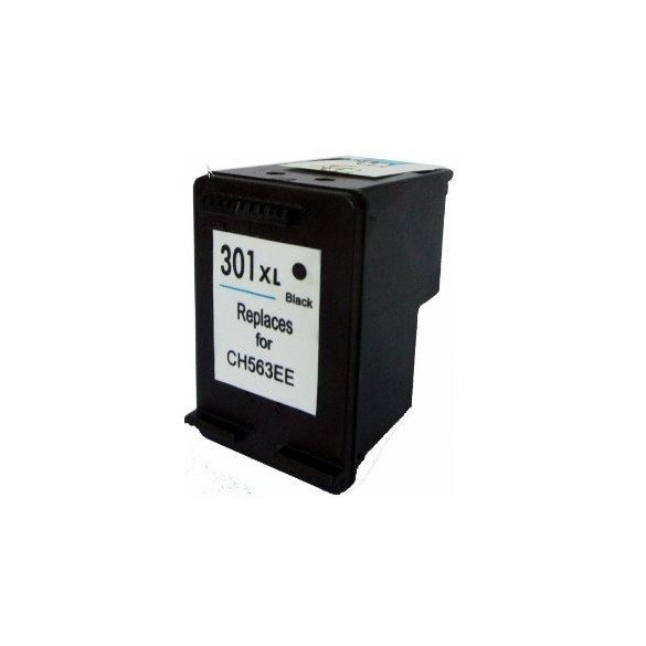 HP CH563EE, 301 XL (Bk, fekete) prémium kategóriájú utángyártott tintapatron, patron (301XL)