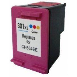 HP CH564EE, 301 XL (color, színes) prémium kategóriájú utángyártott tintapatron, patron
