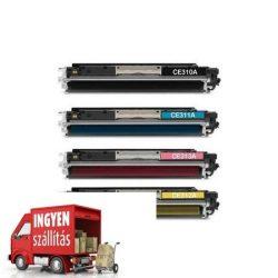 HP 126a, Ce310a-311a-312a-313a utángyártott toner pack, garnitúra (black-cyan-yellow-magenta)