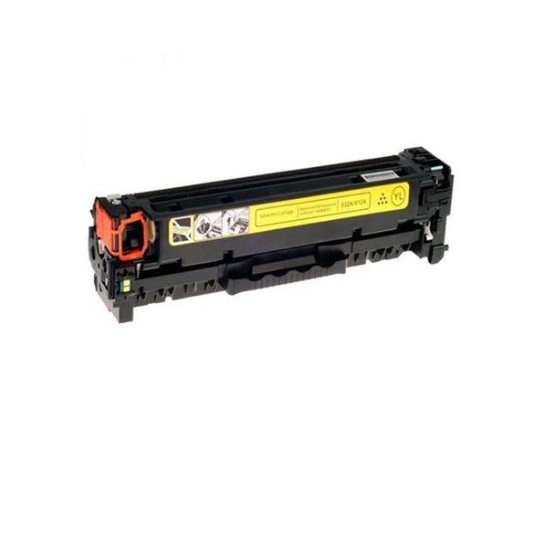 HP CF412X (412X), YELLOW, SÁRGA prémium utángyártott TONER, 5000 oldal