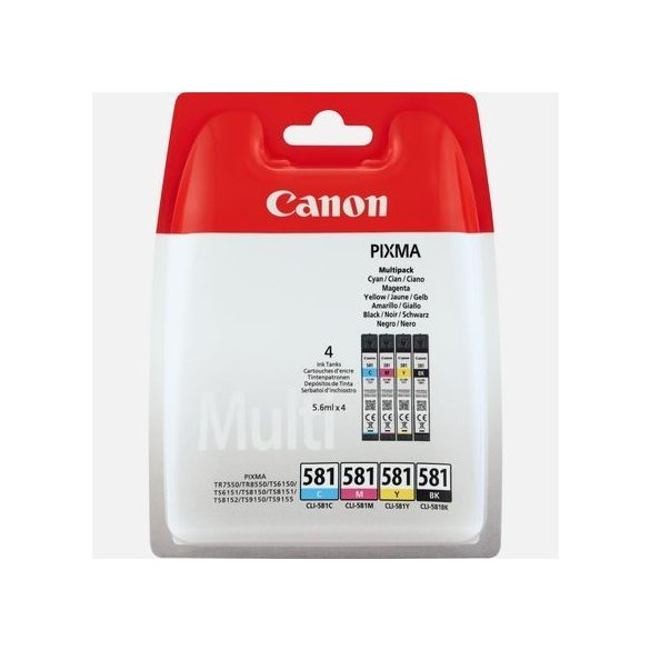 Canon CLI-581 eredeti patron csomag (fotó fekete, cyan, magenta, sárga) Multipack