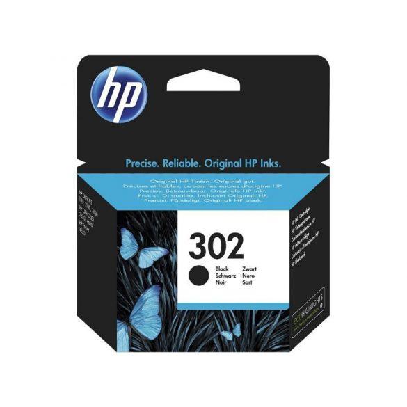 HP 302 fekete eredeti patron F6U66AE