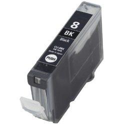 CANON CLI-8 Bk. (fekete) prémium kategóriájú utángyártott tintapatron Chipes, patron