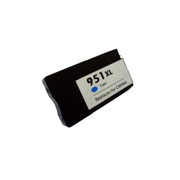 HP CN046AE, 951 XL (cyan, kék) prémium kategriájú utángyártott chipes tintapatron, patron