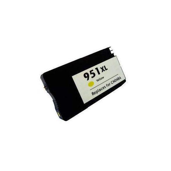 HP CN048AE, 951 XL (yellow, sárga) prémium kategóriájú utángyártott chipes tintapatron, patron