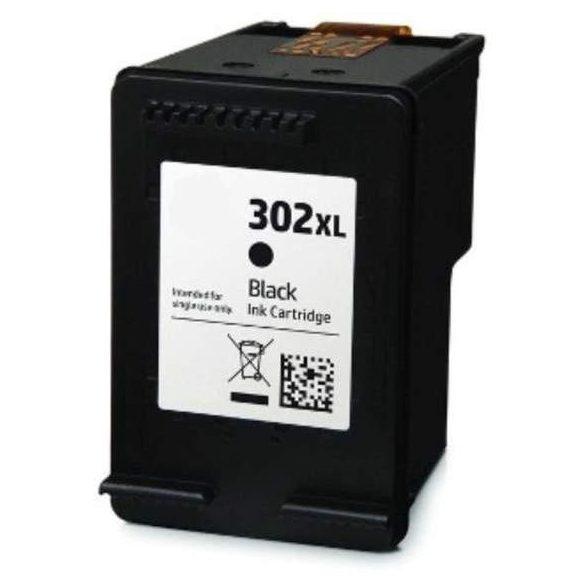 HP 302 XL Bk (F6U68AE) black-fekete prémium utángyártott tintapatron (302XL) 500 oldal