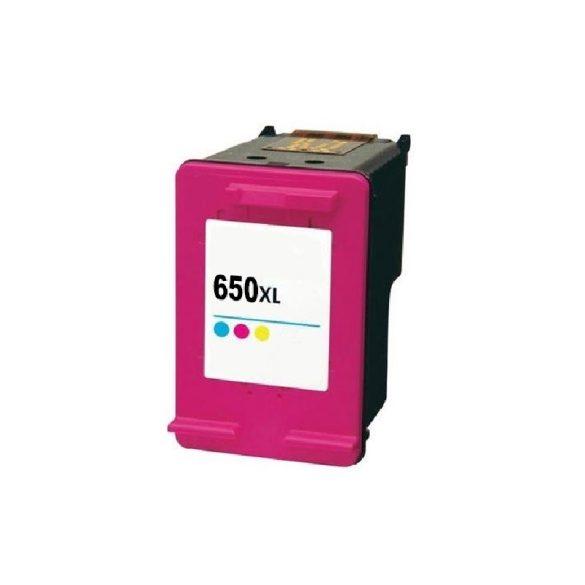 HP 650XL, CZ102AE, XL kapacitású színes prémium utángyártott tintapatron, patron (560 oldal)