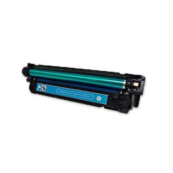 HP CE401A (507A), cyan-kék prémium utángyártott TONER (laserjet m500 m551) 7000 oldal